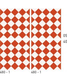 Carrelage ciment décor géométrique 480-1 20x20cm