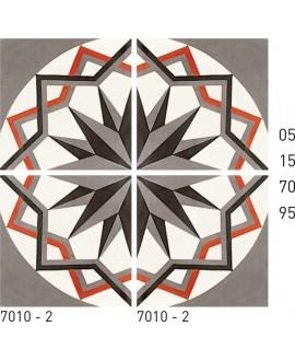 Carrelage ciment rosace 7010-2 20x20cm