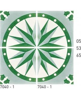 Carrelage ciment rosace 7040-1 20x20cm