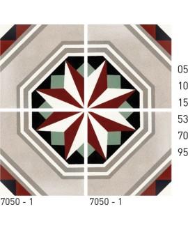 Carrelage ciment rosace 7050-1 20x20cm