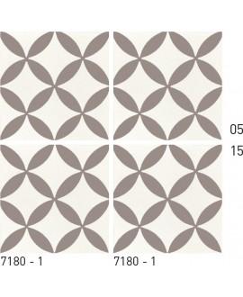 Carrelage ciment décor géométrique 7180-1 20x20cm