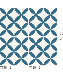 Carreau ciment véritable décor géométrique 7180-2 20x20cm