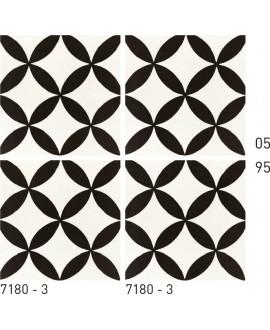Carrelage ciment décor géométrique 7180-3 20x20cm