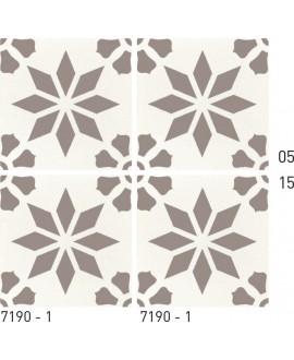 Carrelage ciment décor étoile 7190-1 20x20cm