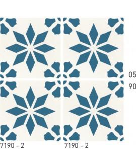 Carrelage ciment décor étoile 7190-2 20x20cm
