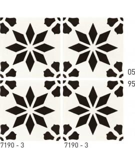 Carrelage ciment décor étoile 7190-3 20x20cm
