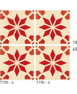 Carrelage ciment décor étoile 7190-4 20x20cm