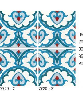 Carreau ciment véritable décor arabesque 7920-2 20x20cm
