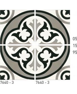 Carrelage ciment décor arabesque 7640-3 20x20cm