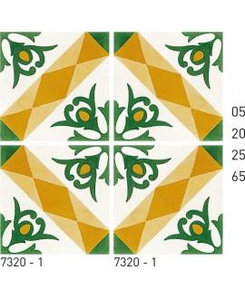 Carreau ciment véritable décor arabesque 7320-1 20x20cm