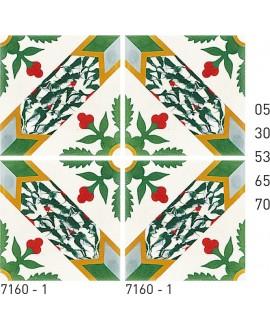 Carrelage ciment décor arabesque 7160-1 20x20cm