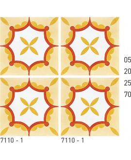 Carreau ciment véritable décor arabesque 7110-1 20x20cm