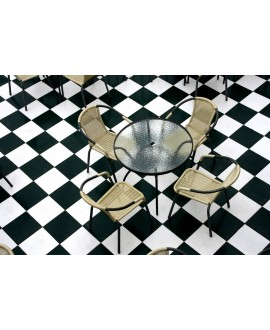 Carrelage imitation carreau ciment damier 25x25cm, D arte noir