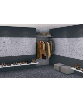 murano noir et murano blanc effet terrazzo et granito 50x50cm