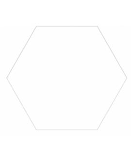 Carrelage D hexagone uni blanc 25x22cm