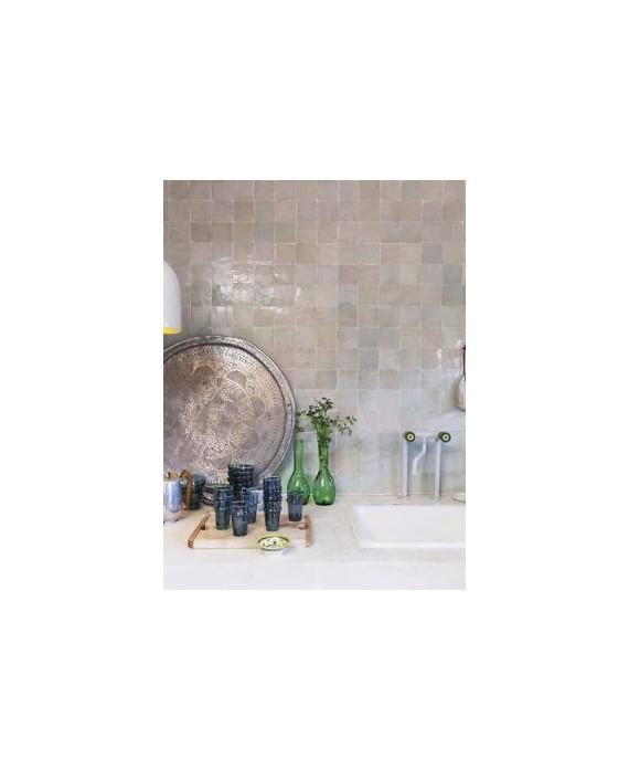 Zellige crédence cuisine salle de bain carrelage en terre cuite D nuage 10x10x1,1cm
