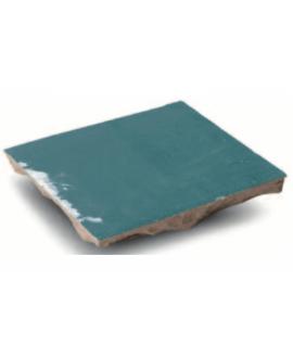 Carrelage en terre cuite D zellige lagon 10x10x1.1cm