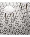 carrelage patchwork 02 black and white effet carreau ciment 20x20cm moderne rectifié R10