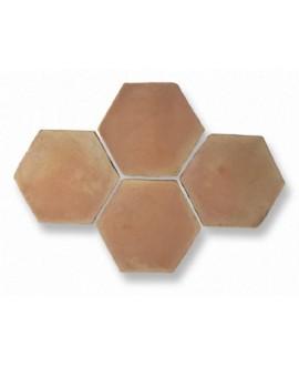 Carrelage en terre cuite fait main hexagonal