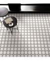 Carrelage patchwork 05 black and white imitation carreau ciment 20x20cm rectifié, R10