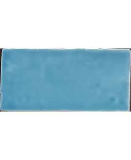 Carrelage DT handmade bleu brillant 7.5x15cm