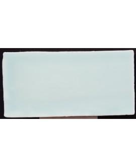Carrelage imitation zellige Dt handmade aqua brillant 7.5x15cm