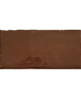 Carrelage DT handmade marron brillant 7.5x15cm
