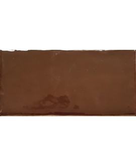Carrelage imitation zellige DT handmade marron brillant 7.5x15cm
