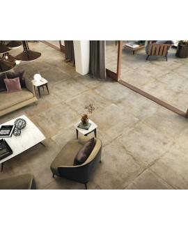 Carrelage sol intérieur, imitation pierre moderne beige mat XXL100x100cm rectifié, porce1807 naturel