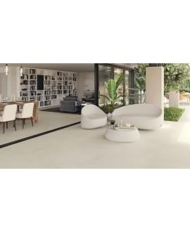 Carrelage terrasse imitation béton ou résine anti-dérapant XXL 100x100cm rectifié, R12 A+B+C, porce1900 crema