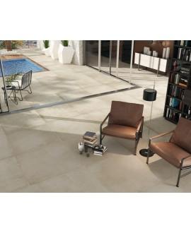Carrelage sol intérieur, imitation béton ou résine mat, XXL 100x100cm rectifié, Porce1801 créma