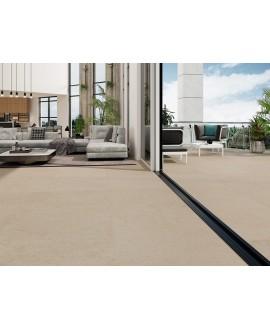 Carrelage imitation pierre mat anti-dérapant, terrasse, XXL 100x100cm rectifié, R11 A+B+C, porce1918 marfil