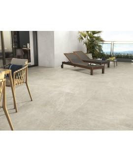 Carrelage imitation pierre crème mat, très grand format 100x100cm rectifié, porce1817 crema