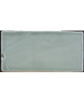 Carrelage imitation zellige DT handmade vert brillant 7.5x15cm