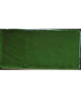 Carrelage DT handmade émeraude brillant 7.5x15cm