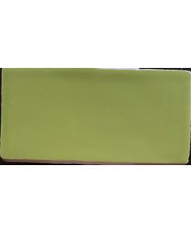 Carrelage imitation zellige DT handmade vert de branche brillant 7.5x15cm