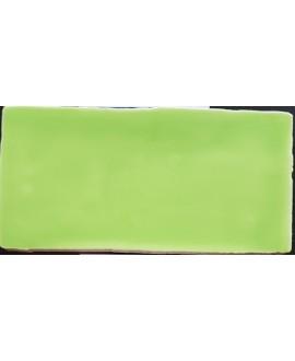 Carrelage DT handmade happy vert 7.5x15cm