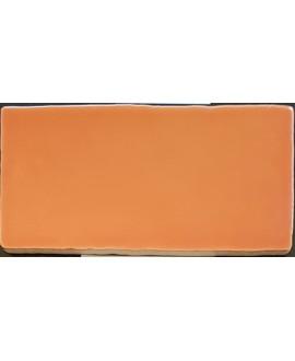 Carrelage DT handmade orange brillant 7.5x15cm