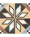 Carrelage patchwork 01 color imitation carreau ciment 20x20cm rectifié dans la salle de bains, R10