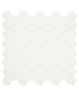 Mosaique hexagone terralemon mat 4.3x3.8cm sur trame 31.6x31.6cm