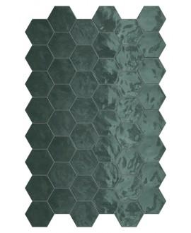 Faience hexagone terragreen brillant 17.3x15cm