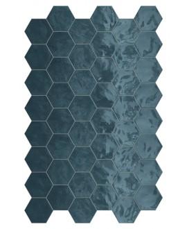 Faience hexagone terraocean brillant 17.3x15cm