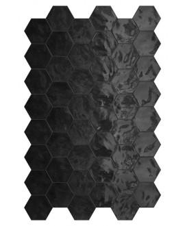 Faience hexagone terrablack brillant 17.3x15cm