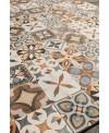 Carrelage patchwork mix color imitation carreau ciment 20x20 cm rectifié dans la cuisine