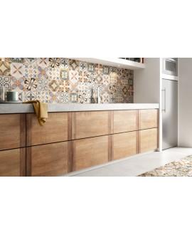 carrelage patchwork mix color effet carreau ciment 20x20 cm rectifié