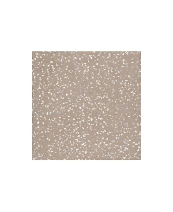 Carrelage imitation terrazzo et granito mat 90x90cm rectifié, santaritual dot greige