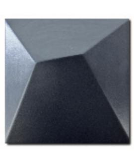 Carrelage 3D mat fuji bleu marine 15x15cm