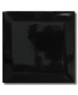 Carrelage métro difbrooklyn noir brillant 10x10cm