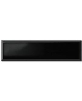 Carrelage métro D noir brillant 10x40cm