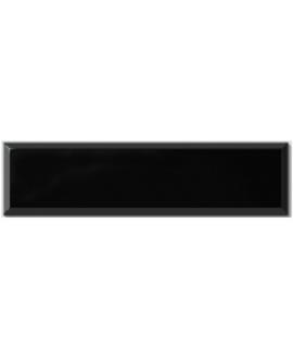 Carrelage métro D noir mat 10x40cm
